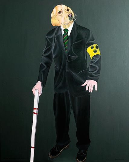 Der Blinde - zum Schutz - ertarnt sich seinen tierischen Begleiter, 2004