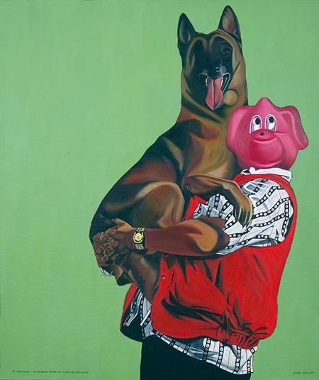 Der Hundeliebhaber - zur Anbiederung - ertarnt sich dessen Lieblingsspielzeug, 2003
